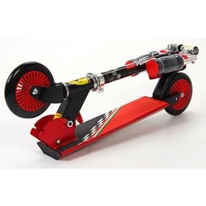 Image 5 - 120 MM מתקפל גובה מתכוונן רגל קטנוע שני סיבובים גלגלים חיצוני כפול דעיכת לדחוף ילדי קורקינט סיטונאי
