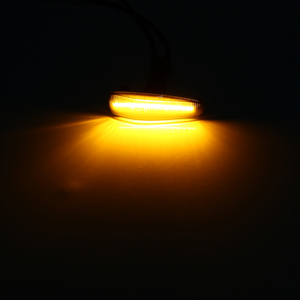 Image 5 - 2 pces que flui a luz lateral conduzida dinâmica do marcador pisca a luz amarela 8351a001 do sinal da volta para o fumo errado do evo x do lancer conduziu a luz