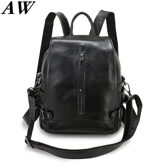 Hot 2019 Latest Fashion Women Backpack Designer Brands Las Genuine Leather High Quality Female School Bags