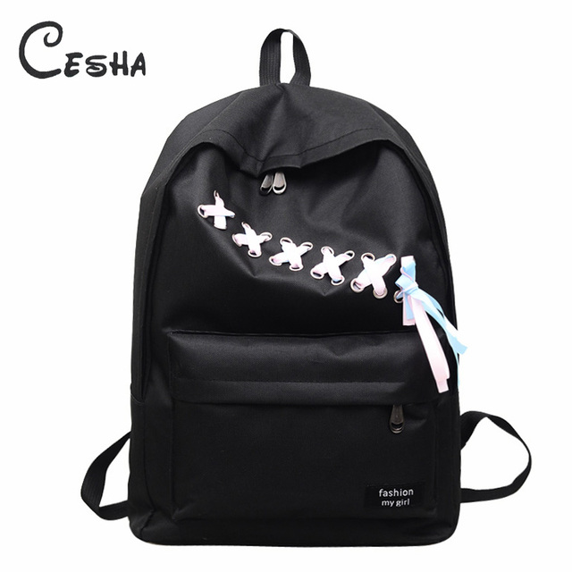 6e4bb25bef46e الأزياء عارضة أشرطة تصميم حقيبة مدرسية للبنات عالية الجودة دائم حقيبة قماش  حقيبة كتب حقيبة المدرسة