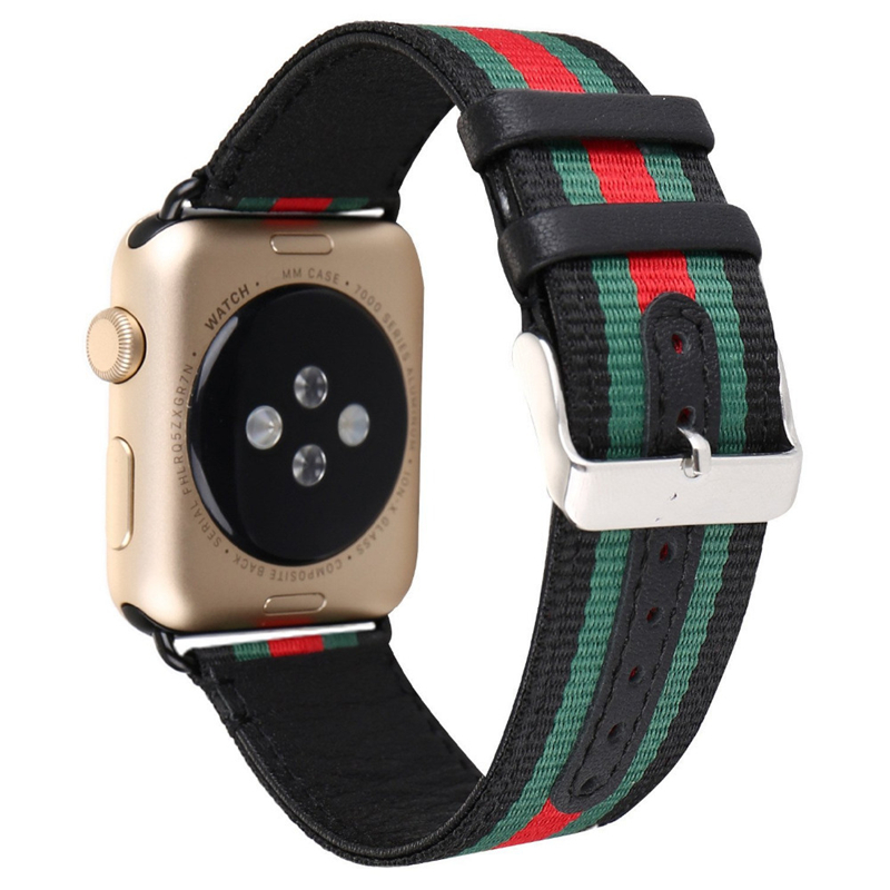 Sport Nylon Rainbow Watch Strap Band Watchbands Wrist Bracelet Belt For iwatch Apple Watch Series 1 2 3 42MM 38MM Modern Design sport loop for apple watch band case 42mm 38mm nylon watch strap bracelet with metal frame protector case cover for iwatch 3 2 1