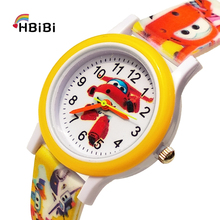 Printed strap High quality children watch Cartoon aircraft Child Watch waterproof kids watches for boy girl Christmas gift clock