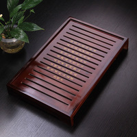New Wooden Tea Tray Japanese Style Kungfu Tea Pot Trivets Drain Drawer Tea Tools Accessories For