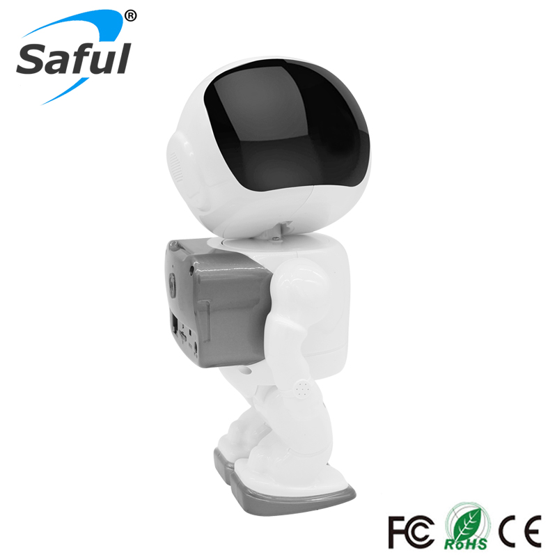 Saful Wireless Robot IP Camera HD 960P 1.3MP CMOS Wifi CCTV P2P Audio Home Security Cam Remote with IR Night Vision hot sale howell wireless security hd 960p wifi ip camera p2p pan tilt motion detection video baby monitor 2 way audio and ir night vision