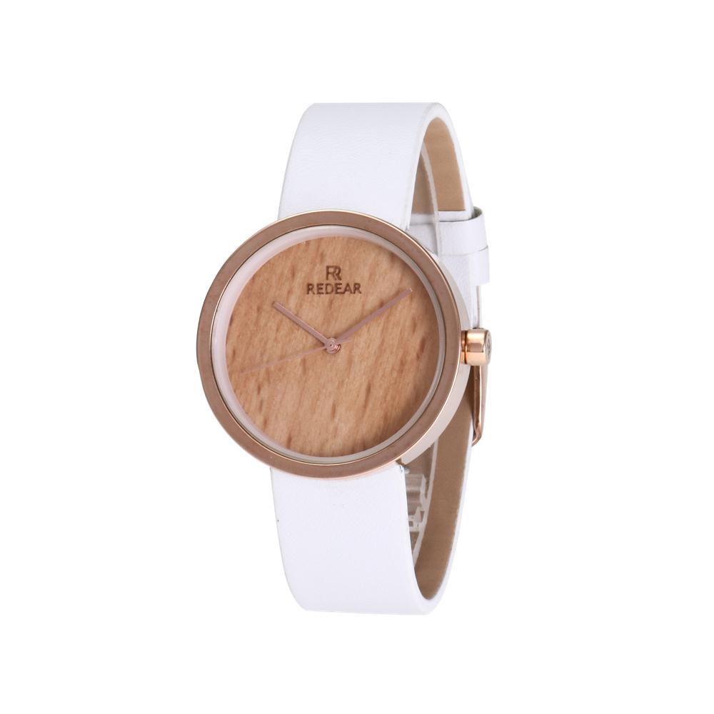 Simple and fashionable women's watch / rose gold shell wood grain ladies quartz watch цена и фото