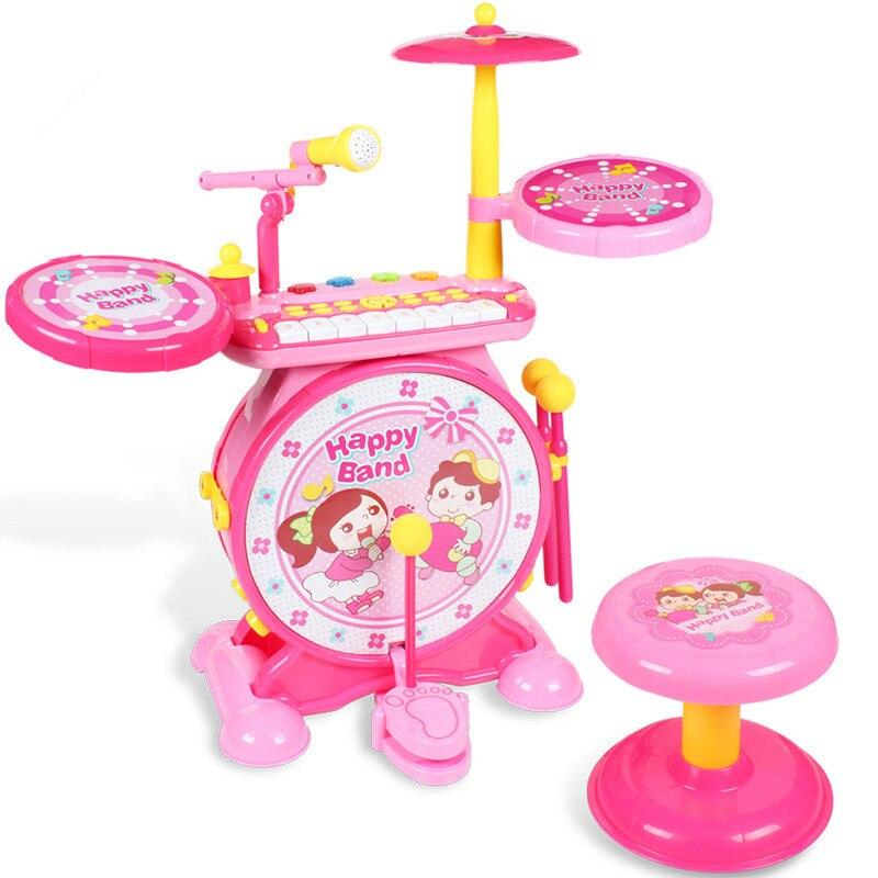 Tambour de Jazz tambour de Rock tambours pour enfants jouet de Percussion musique électronique Piano double alimentation jouets pour enfants cadeaux de Juguetes
