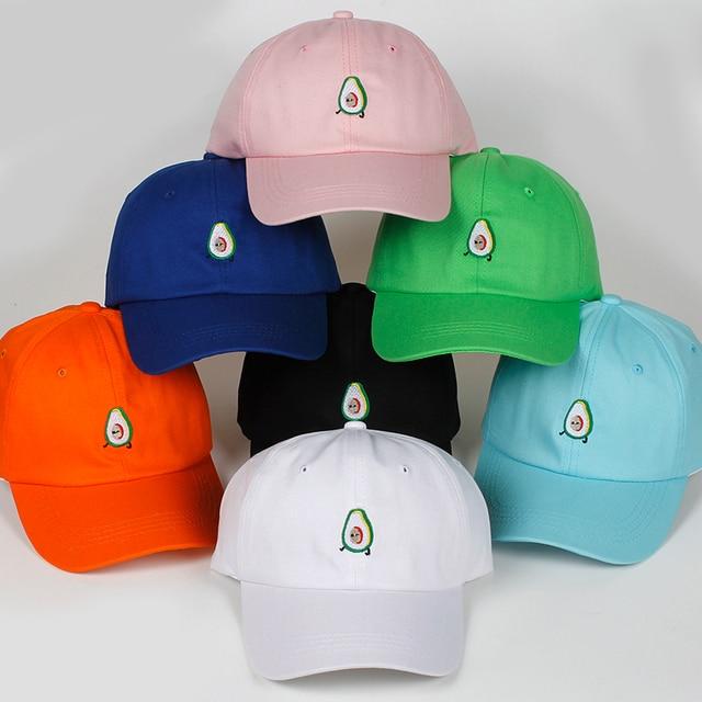 2018 New AVOCADO Cotton Embroidery Adjustable Baseball Cap Baseball Hat Men  And Women Dad Hat Hip hop snapback golf caps hats 69f44bdf0e13