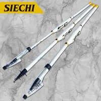 Hard rock rod alta fibra de carbono vara de pesca telescópica mão pólo para hengelsport 2.7 m 3.6 4.5 m 5.4 m 6.3 m