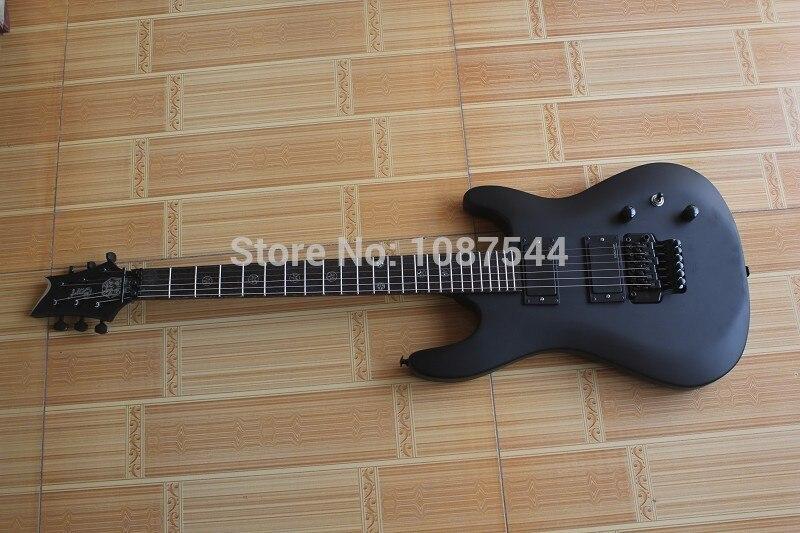 Livraison gratuite Top qualité marque classique Cort EVL-K4 foncé 24 frette noir mat guitare électrique avec Floyd rose trémolo