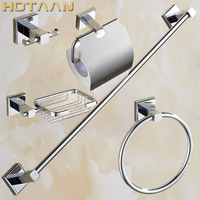 Aree shipping,Solid Brass Bathroom Accessories Set,Robe hook,Paper Holder,Towel Bar,Towel ring,bathroom sets,YT 11400 5