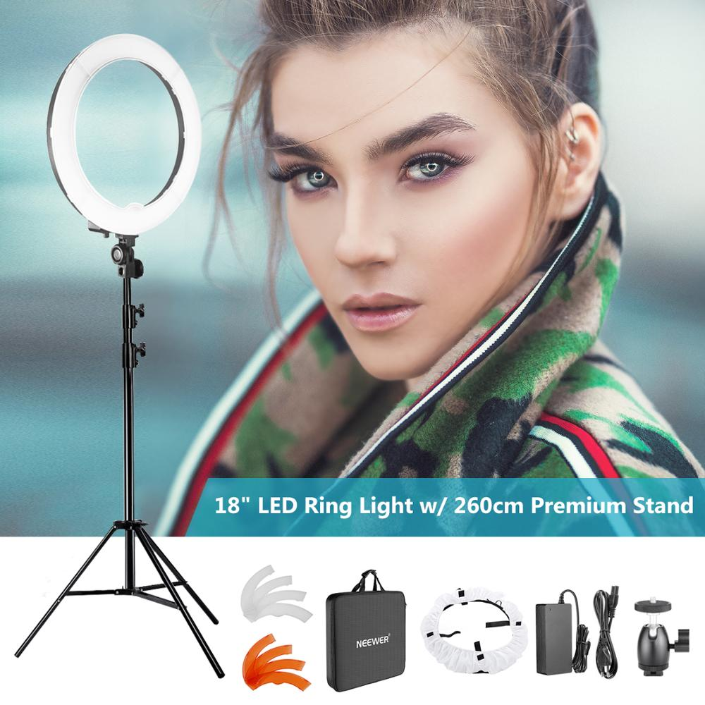 Neewer Camera Photo SMD LED Ring Light Kit for Video Portrait and Photography Lighting 48cm 240pcs LED Dimmable Ring Video LightNeewer Camera Photo SMD LED Ring Light Kit for Video Portrait and Photography Lighting 48cm 240pcs LED Dimmable Ring Video Light