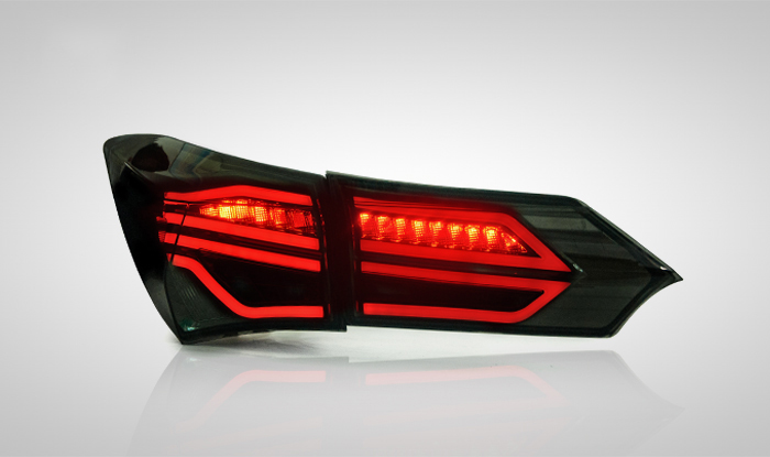for Toyota Corolla Car Lights LED Tail lights fit 2014-up Ensure quality and fitment Rearlights Backup V1 with 2Colors