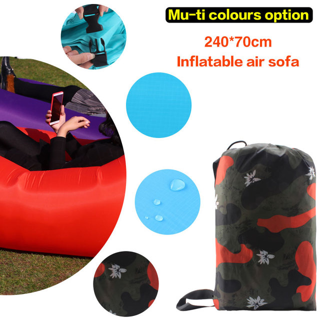 210T Ripstop Portable Inflatable Air sofa for indoor or outdoor waterproof Hangout lazy bag Inflatable Sleeping bag Lazy bag
