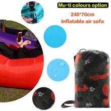 210 T Ripstop laybag Aire sofá Inflable Portátil para uso en interiores o al aire libre a prueba de agua bolsa Inflable bolsa de Dormir Perezoso perezoso Hangout