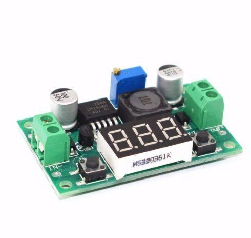 LM2596 BUCK 3A DC-DC Voltage Adjustable Step-Down Power Module + Blue LED Voltmeter LM2596S-ADJ 4-40V to 3.3V/5V/9V/12V/24V