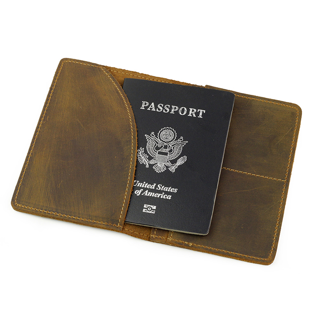 PAMASKIN Promotional Cow Leather Unisex Passport Covers Men Credit Card Holders 2017 Retro Embossing Card Wallets For FeMale