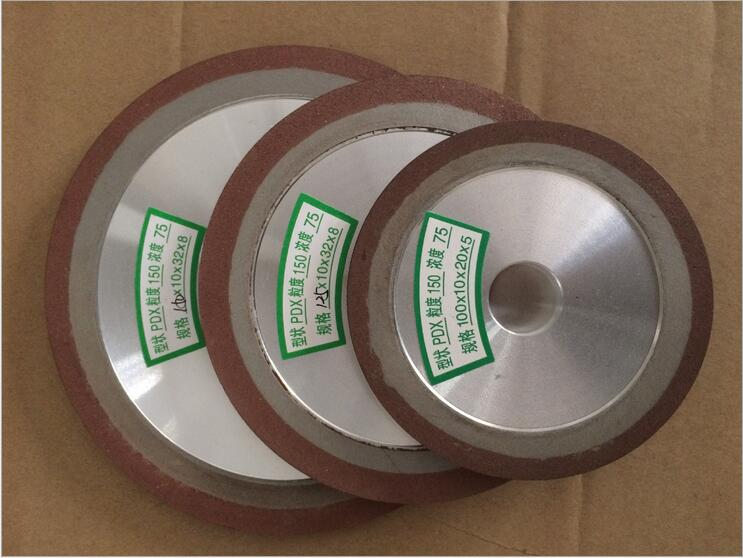 125*10*16*8 Single Bevel PHX Resin Grinding Wheel Diamond 125mm Wheel Abrasive Disc  For Saw Blade Grinding Disc Rotary Tools high quality inner segmented diamond wheel 150 8 10 abrasive wheel for glass straight edge machine and double edge machine