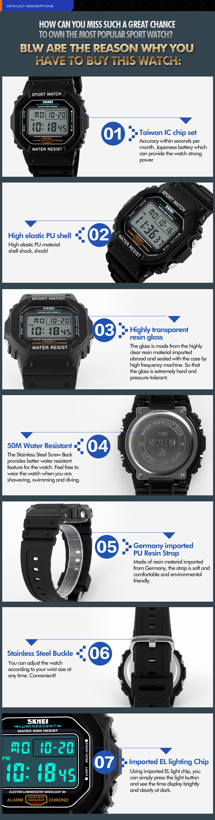 2017 Relogio Masculino Men Sports Watches Fashion Outdoor Clock Led Skmei S Shock Sport Watch Water Resistant 50m Dg1025 11341 11342 11343 11344
