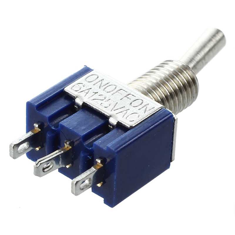 10 шт. AC 125 V 6A Ампер Вкл/на 2 Позиции DPDT тумблер и 3-позиционный фиксация SPST Мини тумблер 6A 125VAC 3A 250VAC-1 шт.