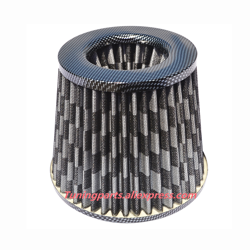 """RED UNIVERSAL 2.75/"""" 70mm SMALL AIR FILTER FOR TOYOTA SHORT//COLD AIR INTAKE"""