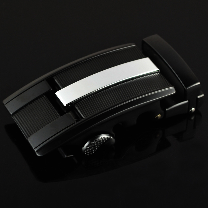 3.5cm Width Mens Belt Buckle Head Men'S Belt Cowskin Leather Belt White Black Metal Ratchet Belt Buckle Business CE25-0304