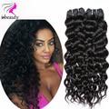 Grade 7A Brazilian Virgin Hair Natural Wave 100% Human Hair Weave 3 Bundles Unprocessed Virgin Brazilian Water Wave Hair Bundles