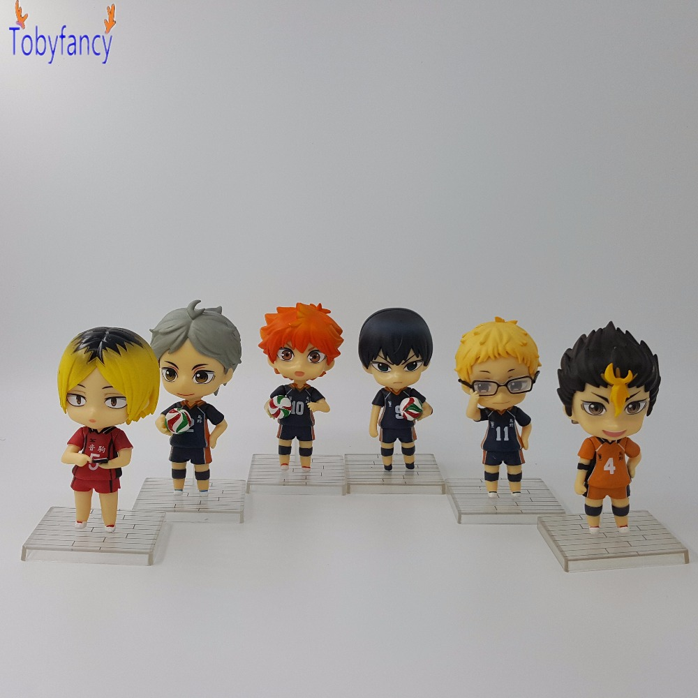 6pcs//set Cartoon Beyblade Burst Dolls Pvc Action Figures Kids Girl Toy Set Gift
