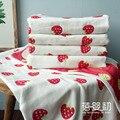 6 Capas de Gasa de algodón Mantas de Bebé Bebe Niños Swaddle Niñas niños toalla de baño de Gran tamaño Recién Nacido Fresa fruta manzana pera limón