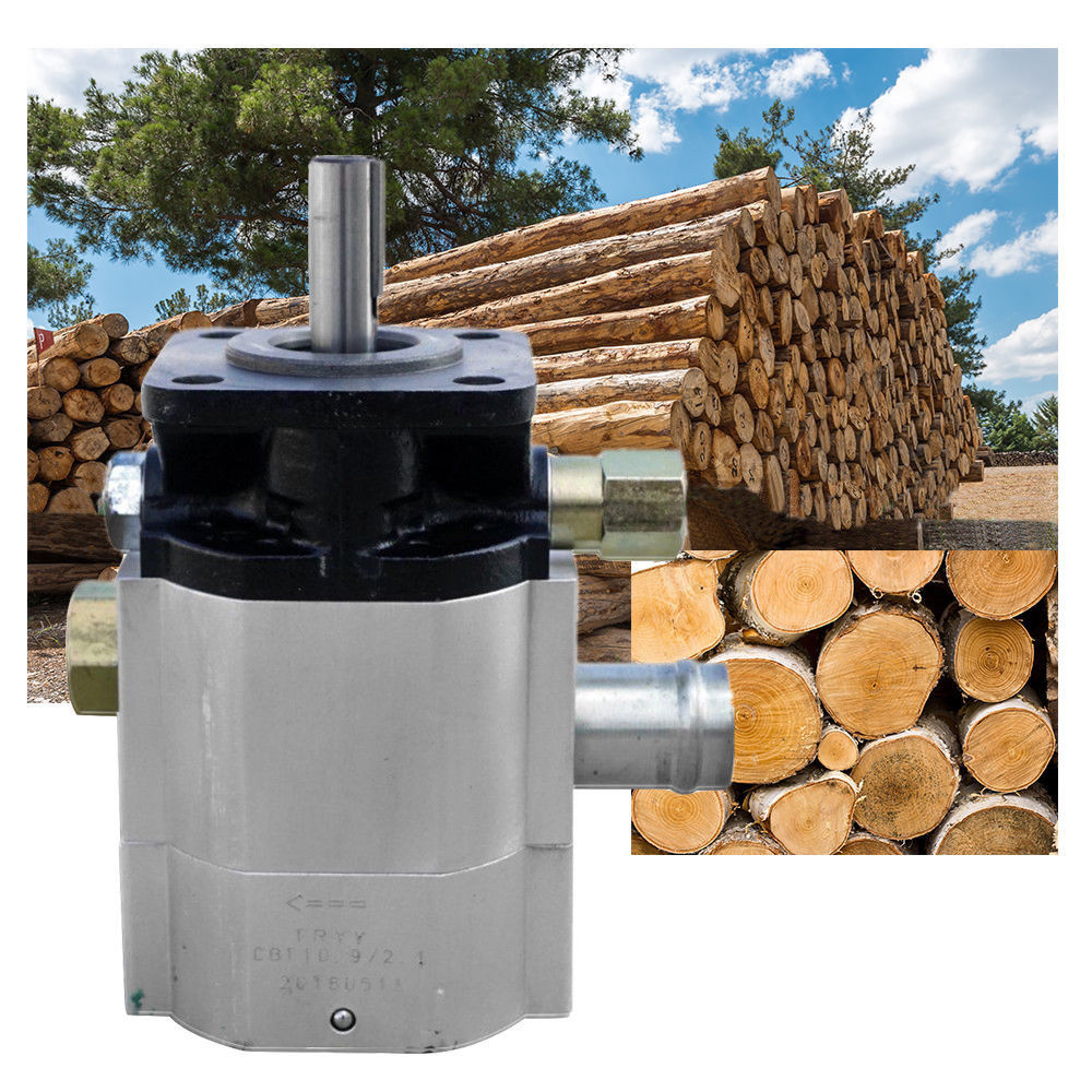 Nouvelle pompe à engrenages hydraulique 16 gallons deux 2 étages 16 GPM fendeuse de bûches Hi Lo