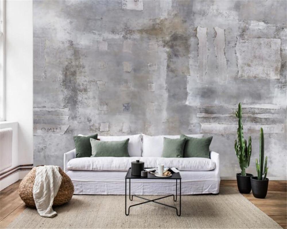 beibehang wallpaper for walls 3 d European Retro Nostalgic Old Wall