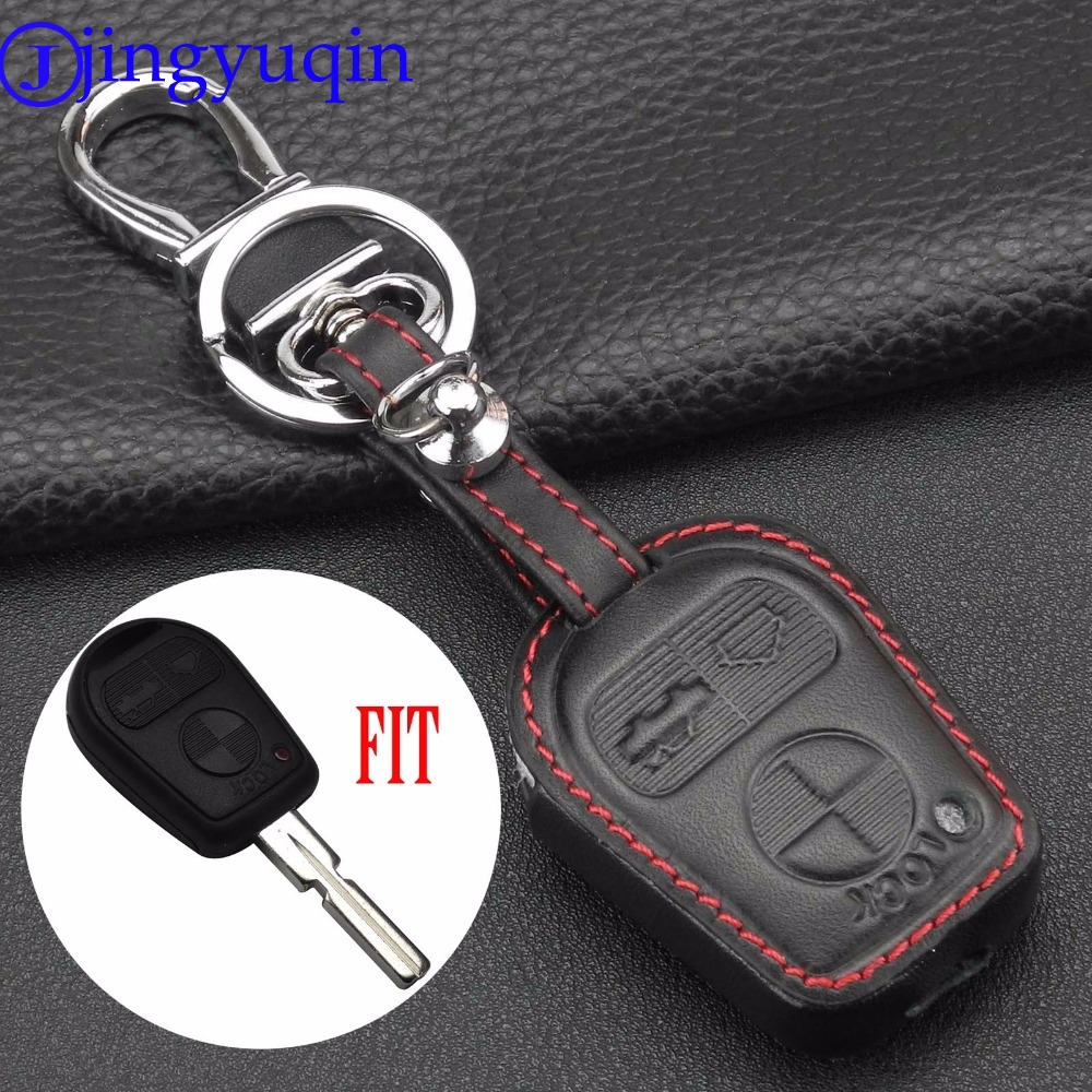 Jingyuqin New Remote 3 Buttons Leather Protect Car Key Case Cover