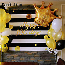 Big gold crown foil Balloon boy happy Birthday balloons celebration party decoration air ballon wedding silver latex ballon(China)