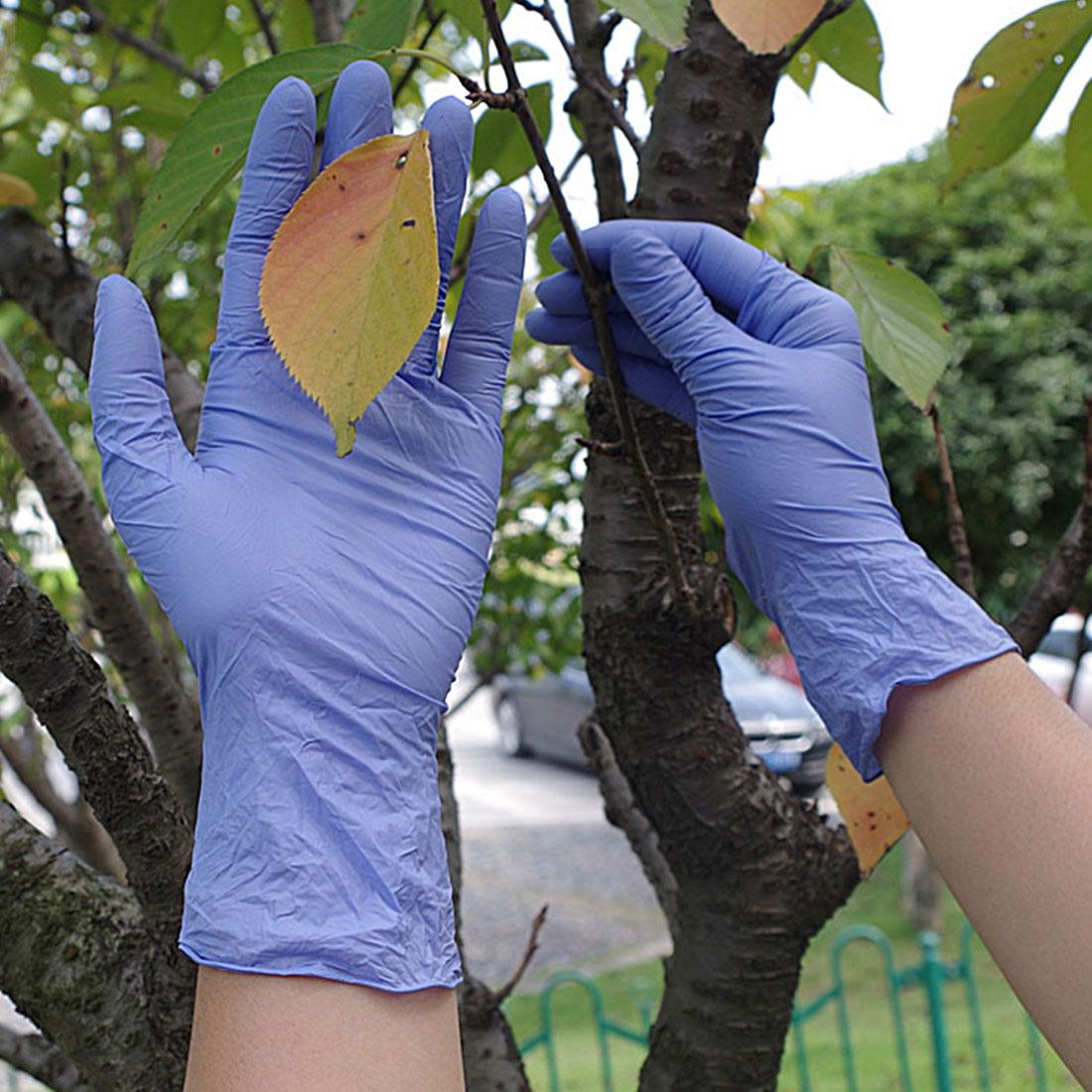 Disposable 100pcs font b Gloves b font Nitrile Rubber font b Gloves b font For Home