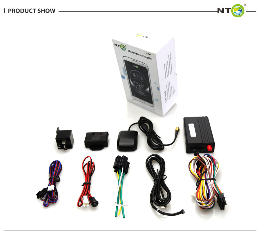 Mise à niveau traceur gps de travail avec original sirène et contrôleur à distance de voiture verrouillage central google carte app système de suivi NTG05