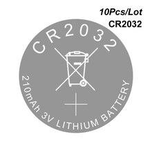 Piles bouton Lithium CR2032 pile bouton 3V 5004LC cellules de montre CR 2032 10 pièces CMOS BIOS RTC sauvegarde durgence