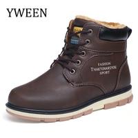 YWEEN Newest Men S Snow Boots Men Plush Warm Winter Shoes Man Big Size Boots