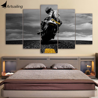 5 Piece Canvas Art Motorcycle Canvas Painting Framed Wall Art Canvas Posters And Prints Wall Pictures