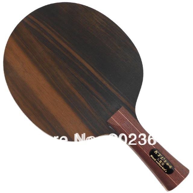 KTL Ebony 5 Black coffee kids professional Shakehand Table Tennis ping pong Blade proac response d 48 ebony