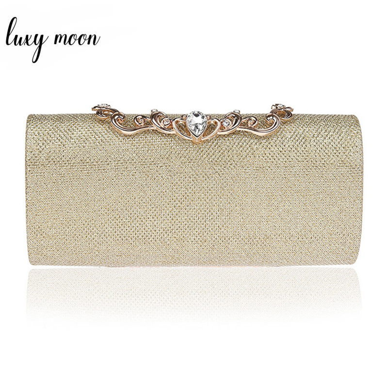 Fashion Gold Silver Color Evening Bags For Women Luxury Diamond Day Clutches Female Purses Wedding Bride Purse Chain HandbagsFashion Gold Silver Color Evening Bags For Women Luxury Diamond Day Clutches Female Purses Wedding Bride Purse Chain Handbags
