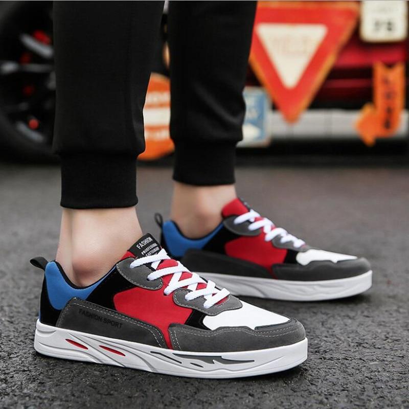 2018 versão coreana da primavera sapatos multicoloridos moda casual - Sapatos masculinos