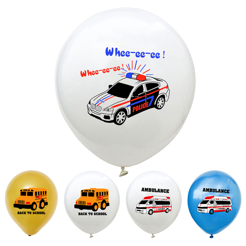 YORIWOO Cartoon Air Balloons Cars Fire Truck Balloon Confetti Baloons Children Birthday Party Decorations Kids Baby Shower Boy Karachi