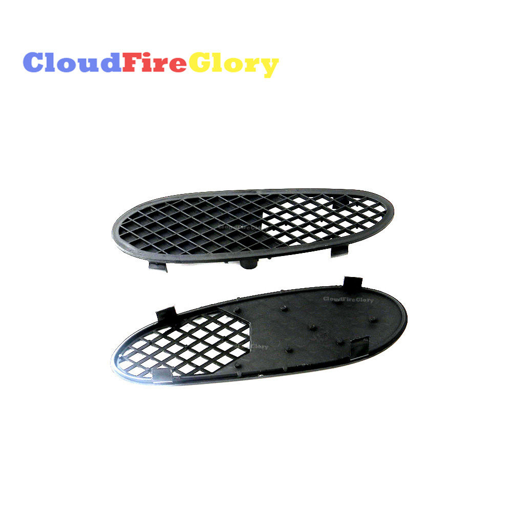 CloudFireGlory For Mercedes <font><b>Benz</b></font> S Class <font><b>W220</b></font> S430 <font><b>S500</b></font> S600 Pair R L Bumper Cover Cap Lateral Grille Trim 2208850123 2208850223 image