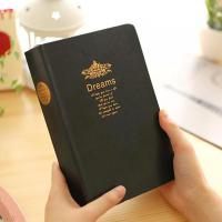 Classic Vintage Thick Big Size Dream Notebook Notepad Pu Leather Bible Diary Blank Book Journals Blank School Office Stationery