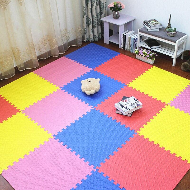 JCC mélange feuille motif Puzzle EVA mousse bébé tapis de jeu/enfants tapis de verrouillage exercice plancher pour enfants carreaux 60*60*1.2 cm