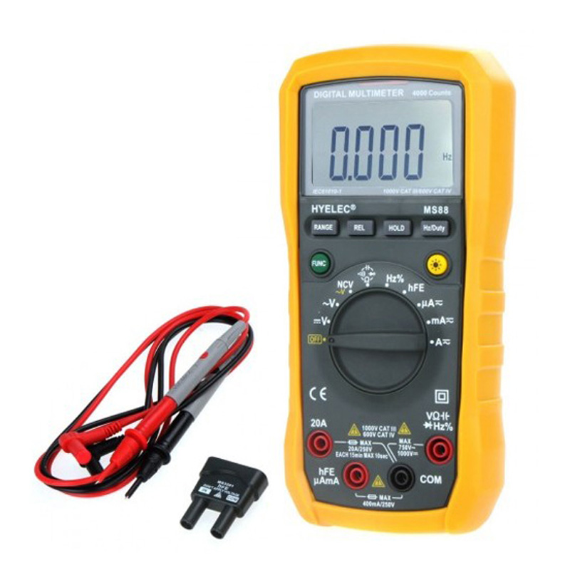 MS88 Multimetro Digital Multimeter/Auto and Manual Range/Frequency/Relative LCR Meter PEAKMETER my68 handheld auto range digital multimeter dmm w capacitance frequency