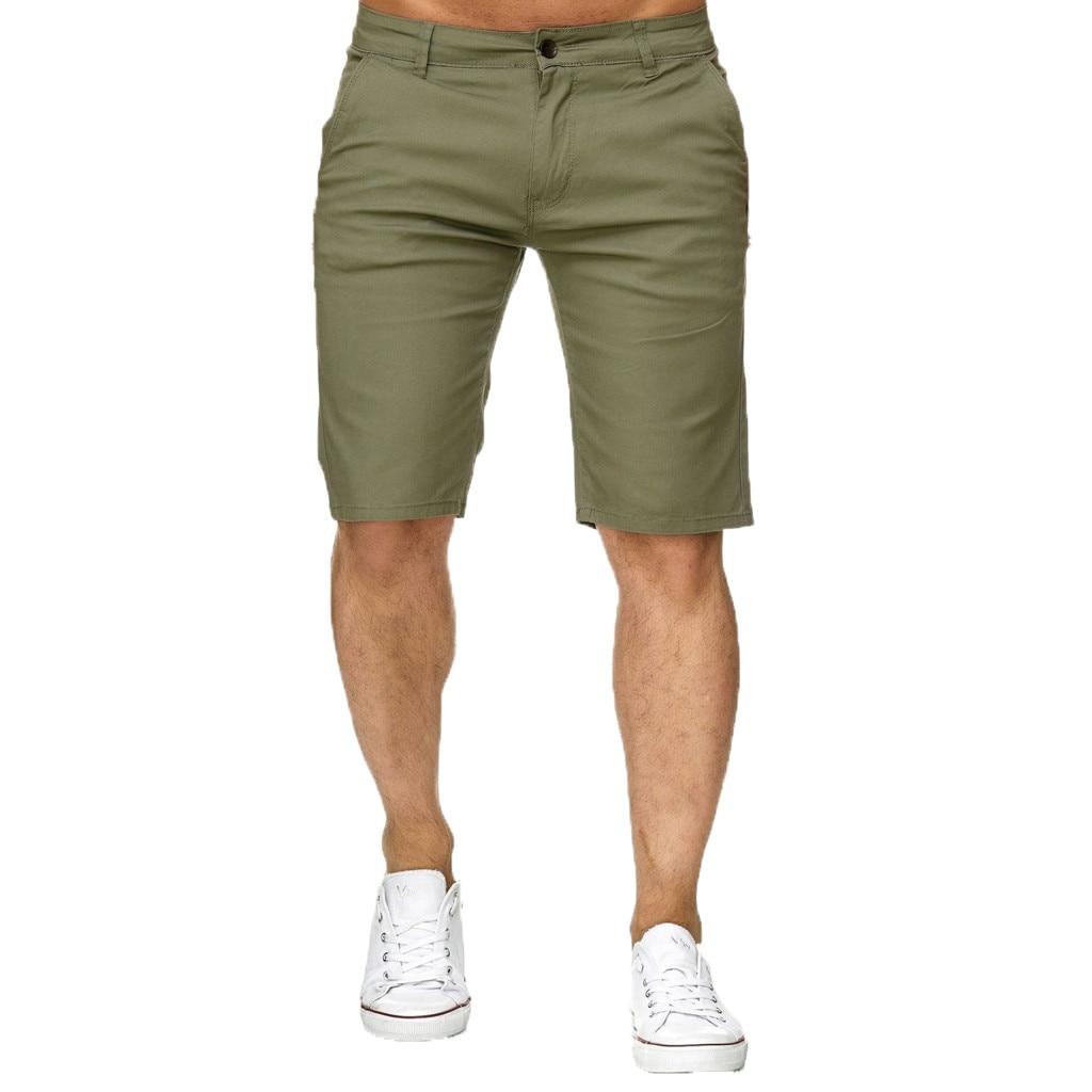 Men   Shorts   Summer Solid Beach Pocket   Short   Casual Straight Men Summer Breathable Cotton Bermuda Comfortable   Shorts