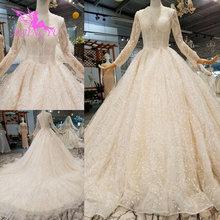 AIJINGYU יוקרה חתונה שמלת תחרה אהבה באינטרנט חנות סין אירלנד זול תוצרת סין החדש שמלת חומר כלה שמלות ליד לי