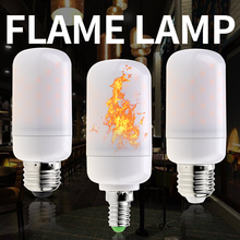 E14 Flame LED Candle Lamp 220V E27 Corn Bulb 3W 5W Fire Light E26 Led Effect Bulbs Decoration Indoor Garden
