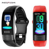 MAFAM P11 EKG Smart band uhr Herz Rate Monitor PPG Smart Armband Blutdruck Uhr 2019 Neueste Wasserdichte Armband