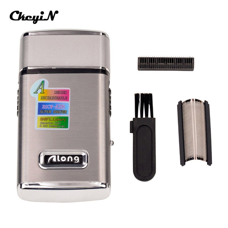 CkeyiN Electric Rechargeable Men Shaver Razor Face Care Reciprocating Shaver Portable Mini Electric Shaver Barber Hair Trimmer Single Blade Shaving Machine  36
